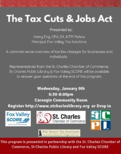 Flyer-for-Tax-Cuts-and-Jobs-Act-presentation-236x300 Tax Presentation at the Library tax preparation 60174